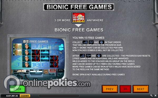 Play The Six Million Dollar Man Online Pokies at Casino.com Australia